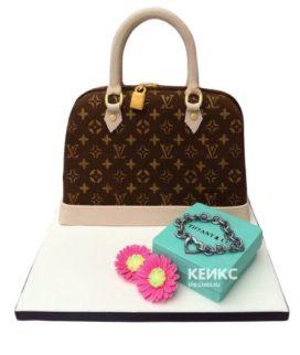 Торт сумка луи виттон-2