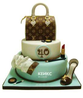 Торт сумка луи виттон-3