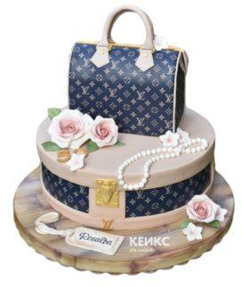 Торт сумка луи виттон-8