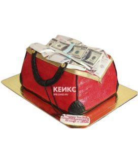 Торт сумка с деньгами 1