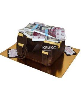 Торт сумка с деньгами 2