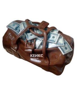 Торт сумка с деньгами 3