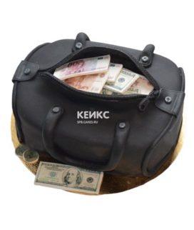 Торт сумка с деньгами 4