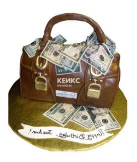 Торт сумка с деньгами 5