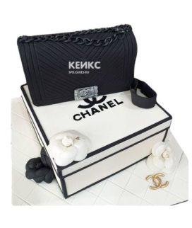 Торт сумка шанель-1