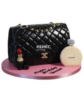 Торт сумка шанель-10