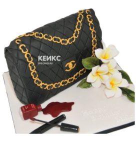 Торт сумка шанель-12