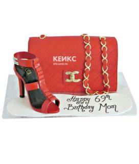 Торт сумка шанель-13