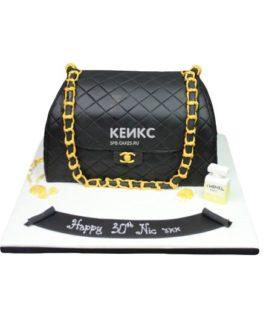 Торт сумка шанель-16