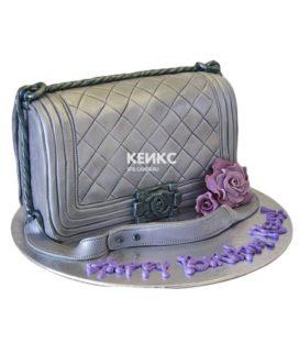 Торт сумка шанель-3