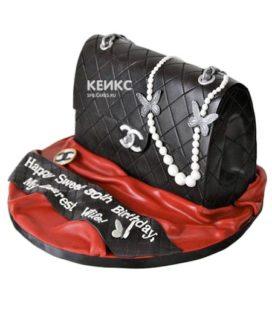 Торт сумка шанель-6