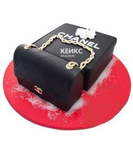 Торт сумка шанель-7