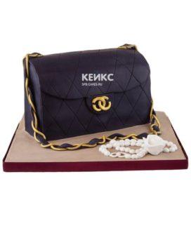 Торт сумка шанель-9