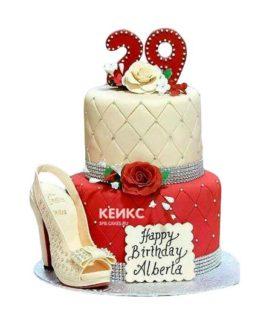 Торт женщине на 29 лет 6