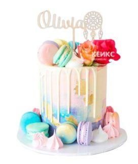 Торт женщине на 33 года 3