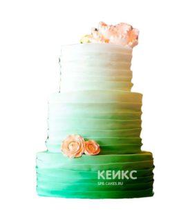Свадебный торт зеленый 1