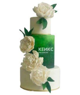 Свадебный торт зеленый 10