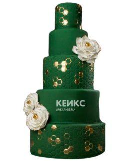 Свадебный торт зеленый 11