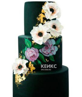 Свадебный торт зеленый 2