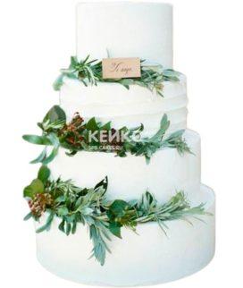 Свадебный торт зеленый 3