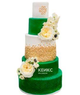 Свадебный торт зеленый 4