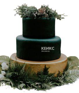 Свадебный торт зеленый 5