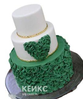 Свадебный торт зеленый 7