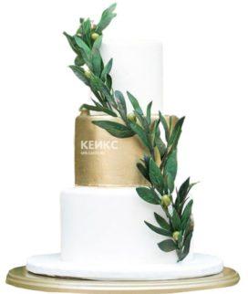 Свадебный торт зеленый 8