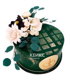 Свадебный торт зеленый 9