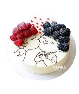 Торт на годовщину отношений 1