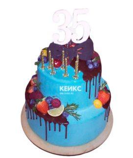Торт на юбилей мужчине 35 лет 4
