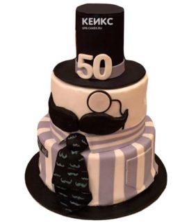 Торт на юбилей мужчине 50 лет 11