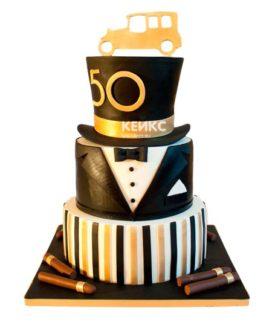 Торт на юбилей мужчине 50 лет 12