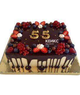 Торт на юбилей мужчине 55 лет 9