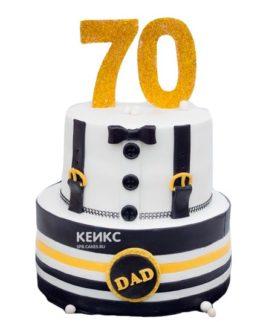 Торт на юбилей  мужчине 70 лет 4