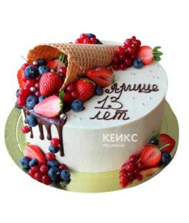 Торт необычный без мастики