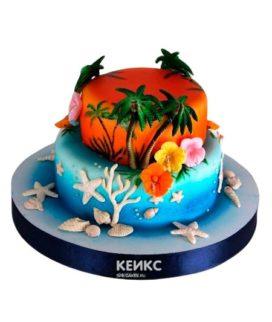 Торт остров 3