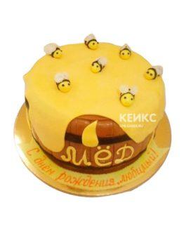 Торт с сотами 11