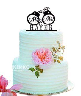 Торт свадебный с кольцами