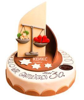 Торт весы 6