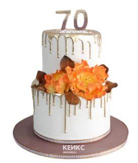 Торт женщине на юбилей 70 лет 5