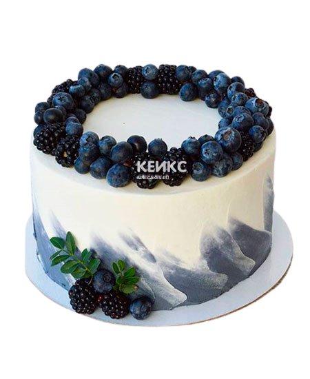 Торт с голубикой 11