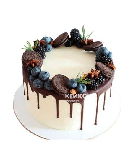Торт с голубикой 13