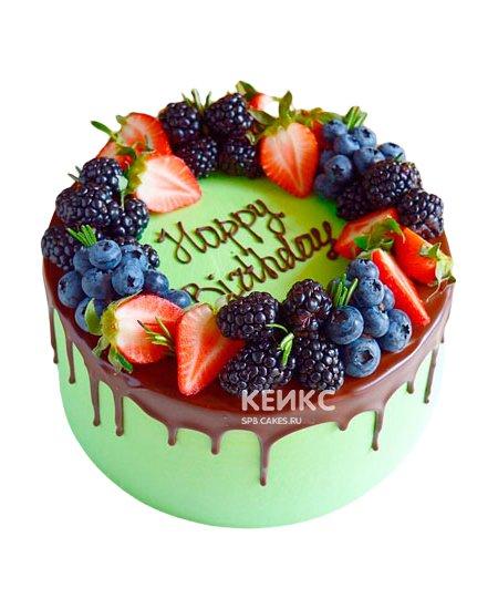 Торт с голубикой 4