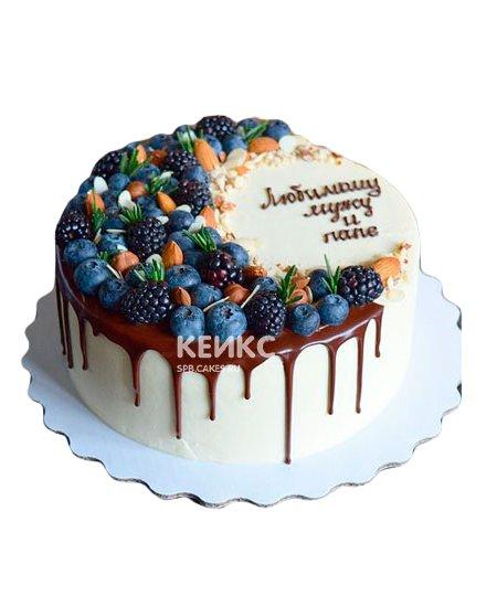 Торт с голубикой 7