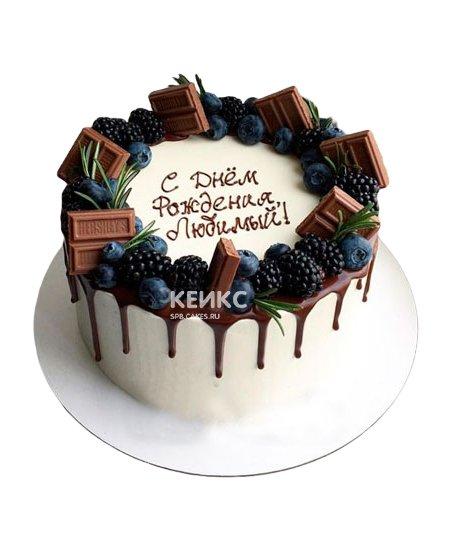 Торт с голубикой 8