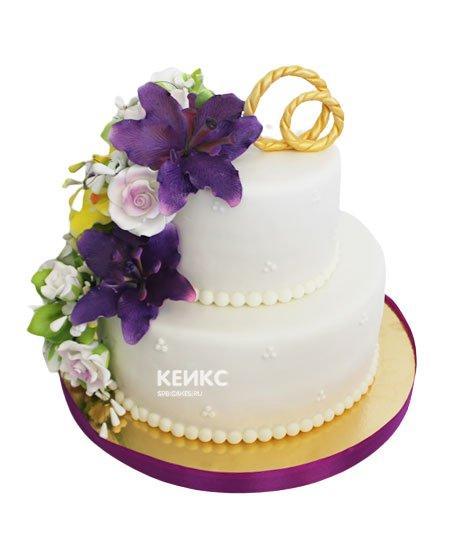 Свадебный торт лилия 3