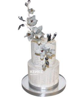 Свадебный торт орхидея 13
