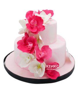 Свадебный торт орхидея 14