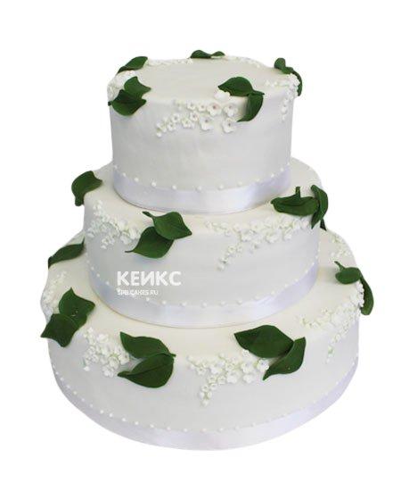 Свадебный торт зеленый 12